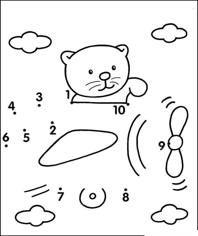 Unir Puntos Números 1 10 Parte 3 Imprimible Gratis Para
