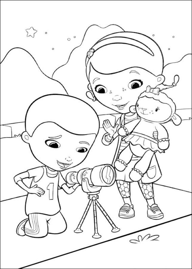 Coloriages Docteur La Peluche Imprimable Gratuit Pour Les Enfants Et Les Adultes