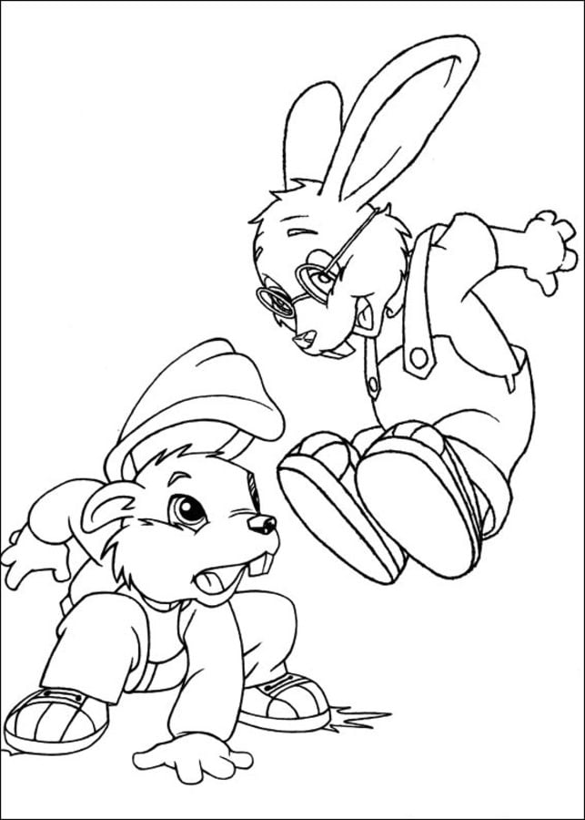 Coloring pages: Coloring pages: Forest Friends, printable
