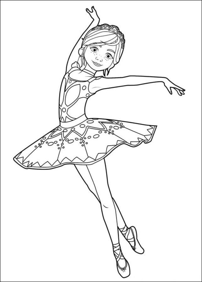 Kolorowanki: Balerina do druku dla dzieci i dorosłych