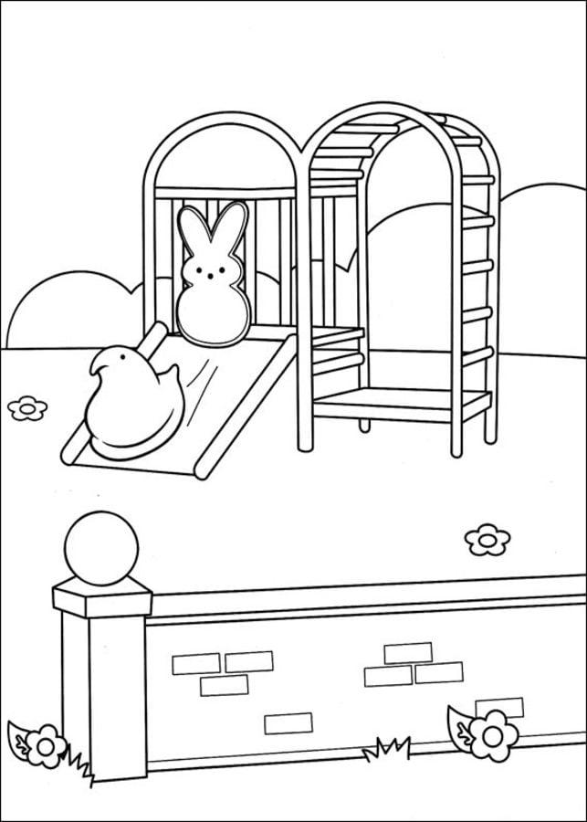 Dibujos para colorear: Marshmallow Peeps imprimible