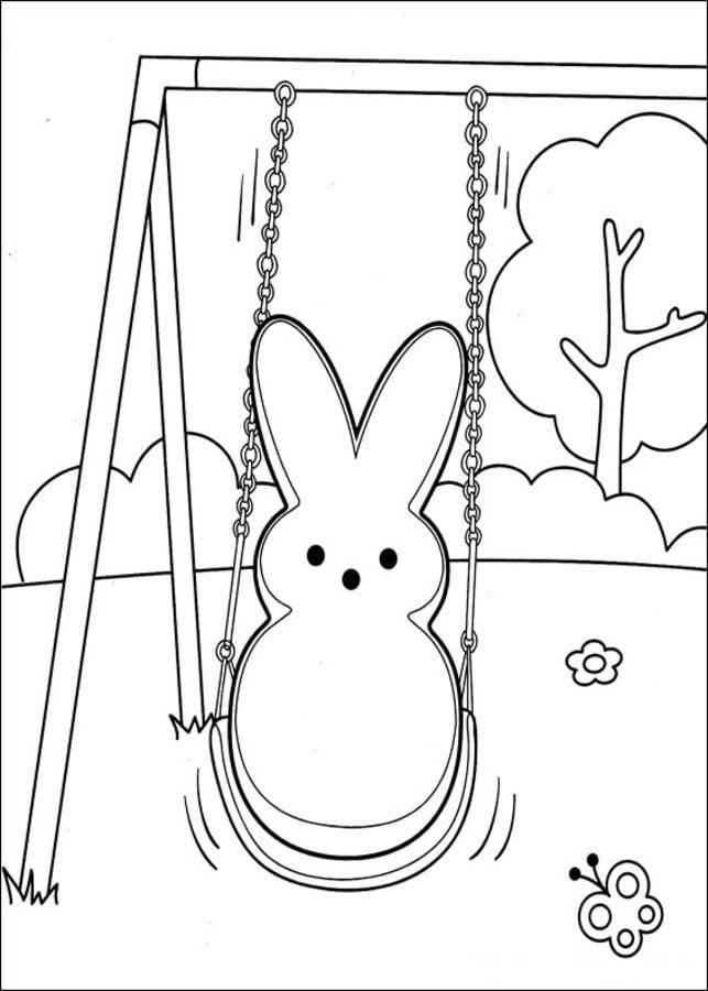 Dibujos Para Colorear Marshmallow Peeps Imprimible Gratis Para