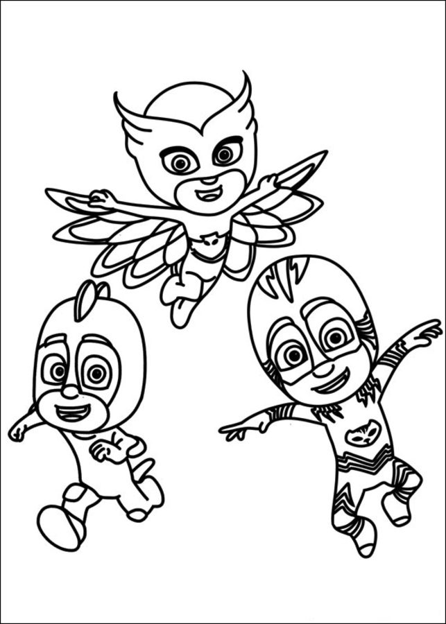 Coloring pages: PJ Masks, printable for kids & adults, free