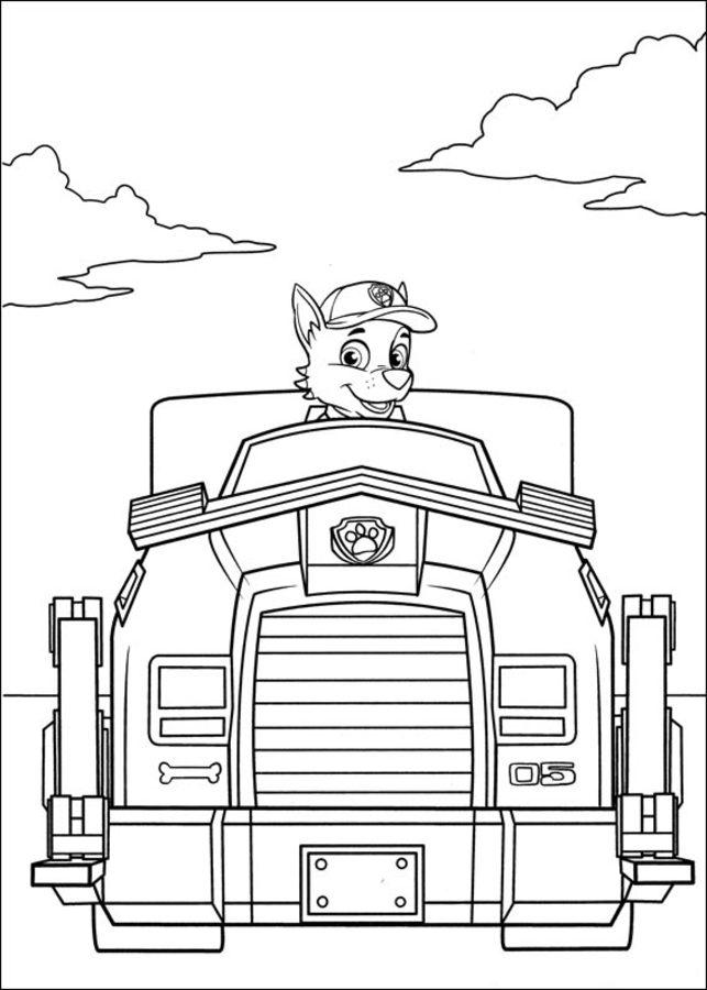 Ausmalbilder: Ausmalbilder: PAW Patrol zum ausdrucken