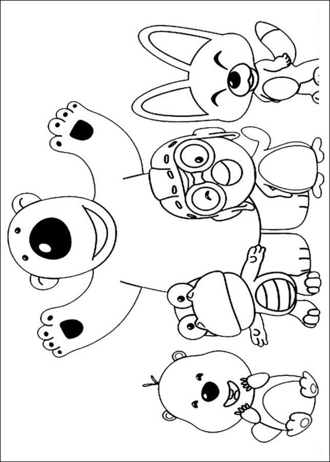 Dibujos para colorear: Pororo El Pequeño Pingüino