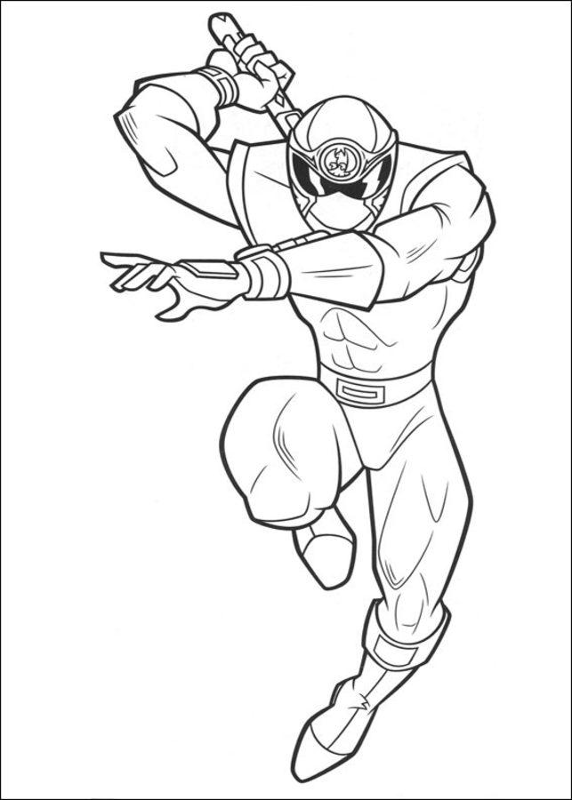 Disegni da colorare Power Rangers stampabile gratuito