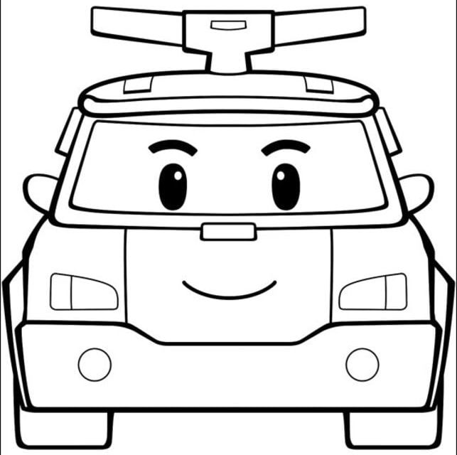 Coloring Pages Coloring Pages Robocar Poli Printable For Kids Adults Free