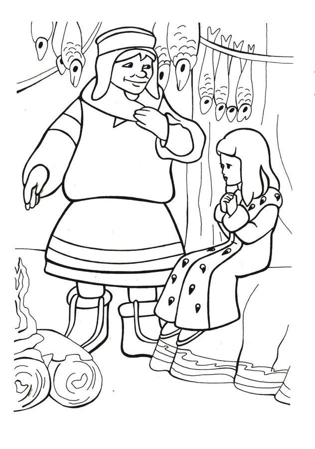 Ausmalbilder Die Schneekönigin zum ausdrucken kostenlos