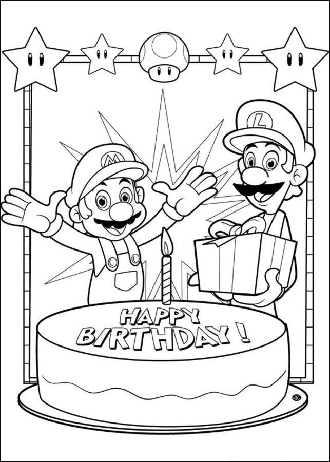 Ausmalbilder: Ausmalbilder: Super Mario Bros zum