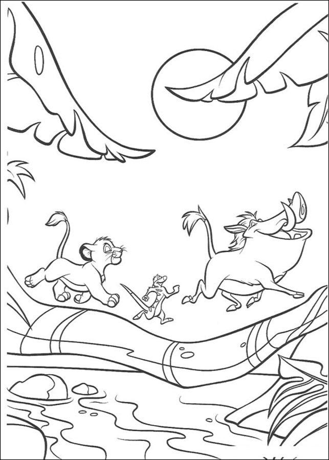 Dibujos Para Colorear El Rey León Imprimible Gratis Para