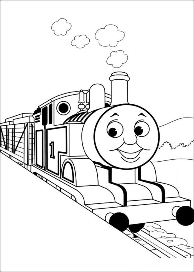Ausmalbilder: Ausmalbilder: Thomas, die kleine Lokomotive