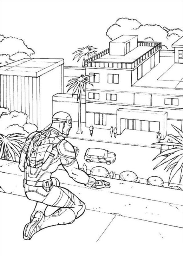 Disegni da colorare: Captain America: Civil War stampabile