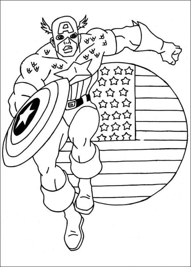 Coloring Pages Coloring Pages Captain America Printable For Kids Adults Free