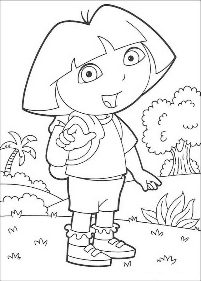 Kolorowanki Dora I Przyjaciele Do Druku Dla Dzieci I