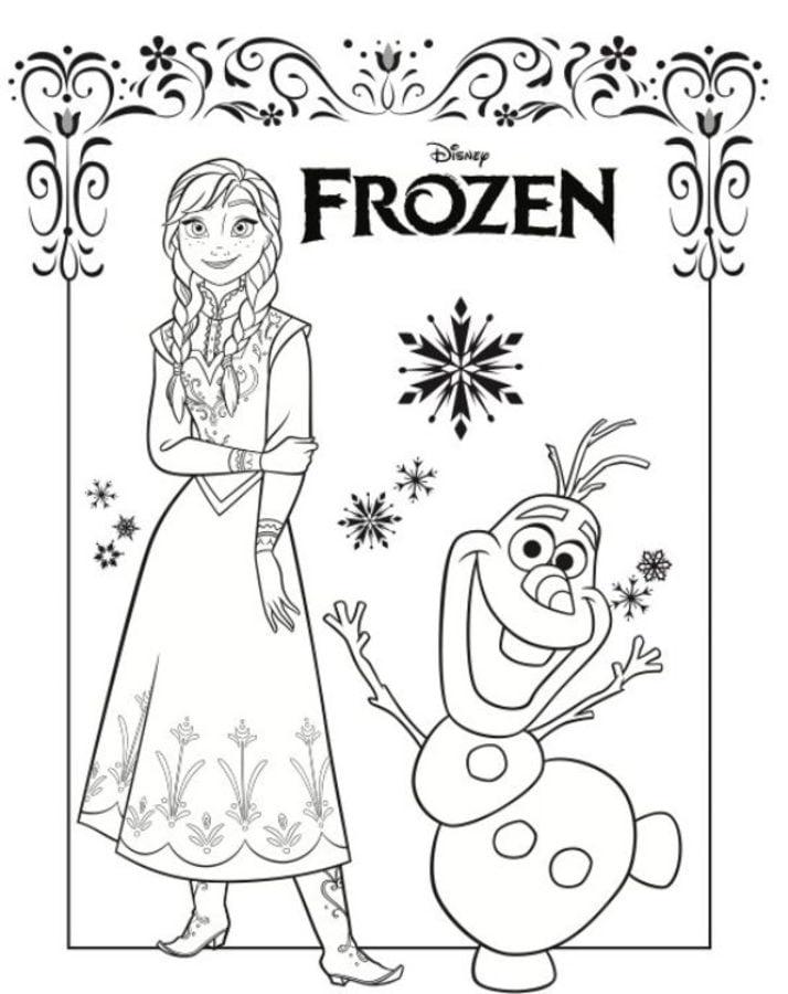 Dibujos Para Colorear Frozen Anna Y Elsa Imprimible