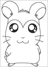 Dibujos para colorear: Hamtaro imprimible, gratis, para ...