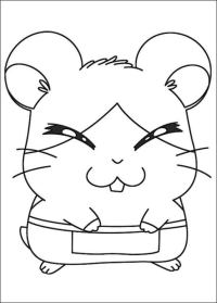Dibujos para colorear: Hamtaro imprimible, gratis, para