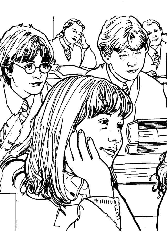 Dibujos para colorear: Harry Potter y la cámara secreta