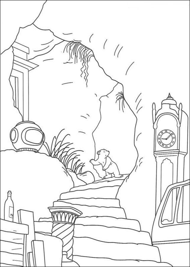 Ausmalbilder Der kleine Eisbr zum ausdrucken kostenlos fr Kinder und Erwachsene