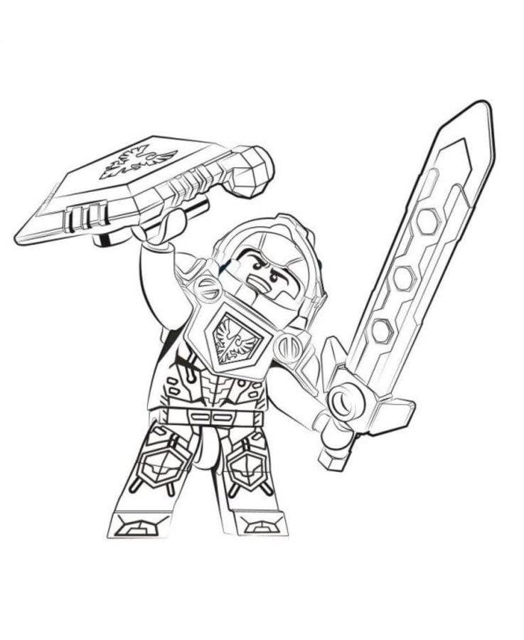 Ausmalbilder: LEGO Nexo Knights Ausmalbilder