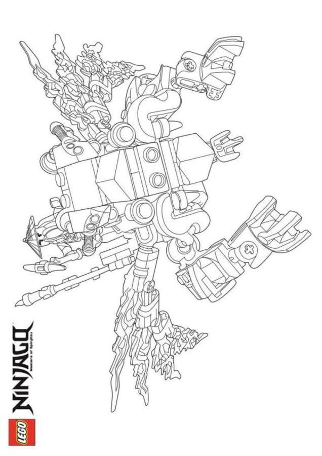 Kolorowanki: Kolorowanki: Lego Ninjago do druku dla dzieci