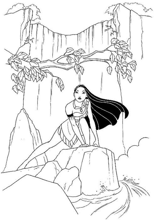 Disegni Da Colorare Pocahontas Stampabile Gratuito Per
