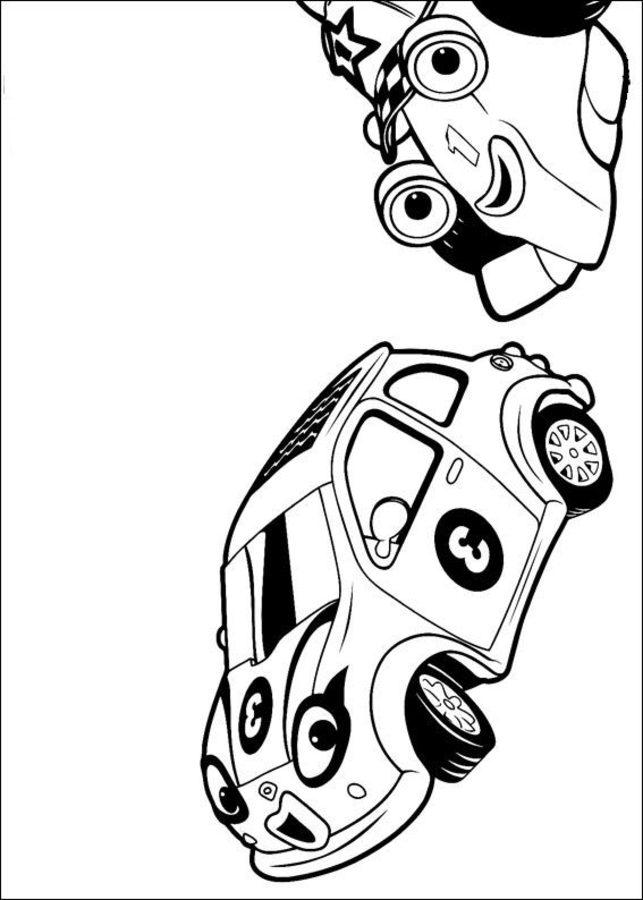 Ausmalbilder: Ausmalbilder: Roary, der Rennwagen zum