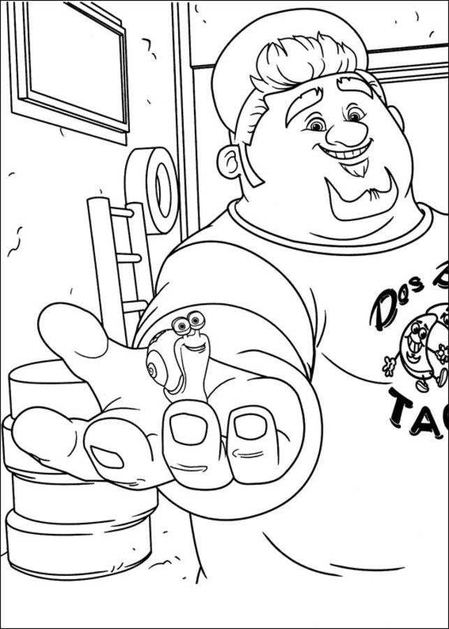 Dibujos para colorear: Turbo imprimible, gratis, para los