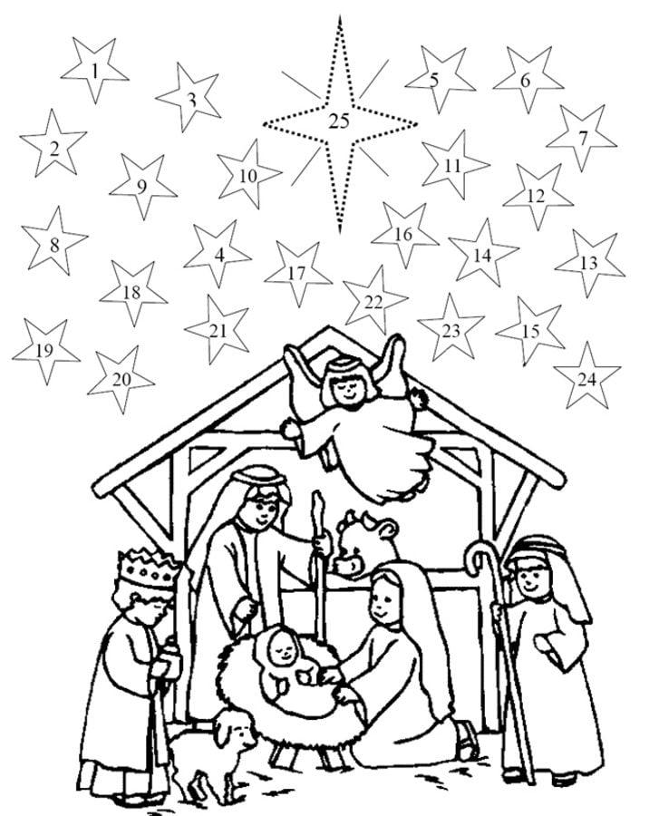 Kostenlose Malvorlage Advent Nikolausstrumpf zum Ausmalen