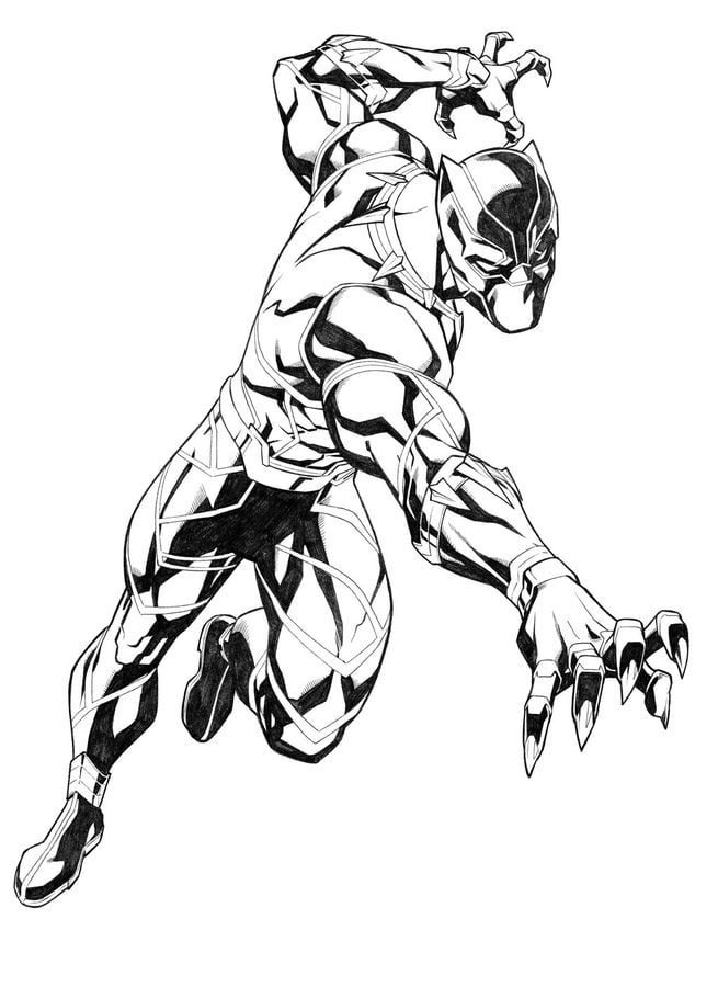 420 Black Panther Coloring Pages Online  Images