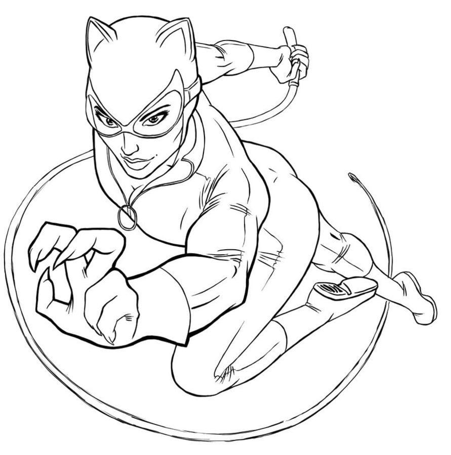 coloring pages of catwoman | Ausmalbilder: Ausmalbilder: Catwoman zum ausdrucken ...