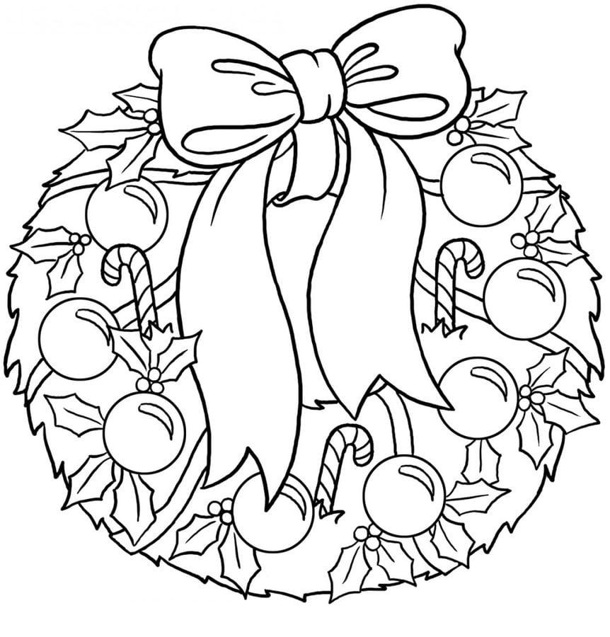 Dibujos Para Colorear Coronas De Navidad Imprimible Gratis Para