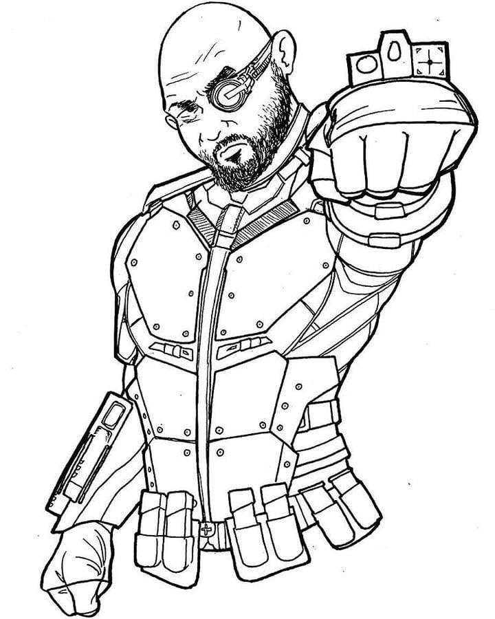 Dibujos Para Colorear Deadshot Imprimible Gratis Para Los