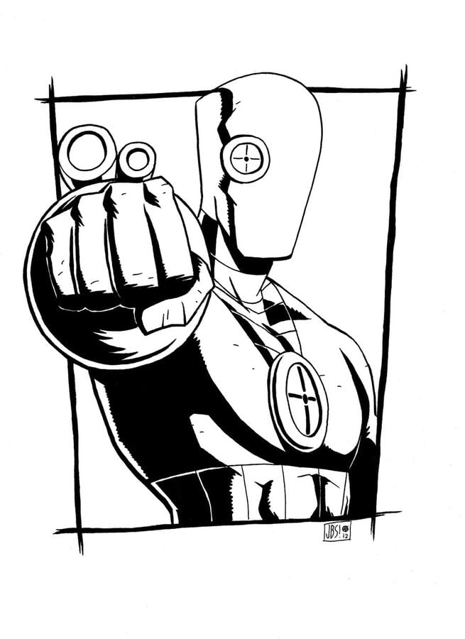 Coloring Pages Coloring Pages Deadshot Printable For