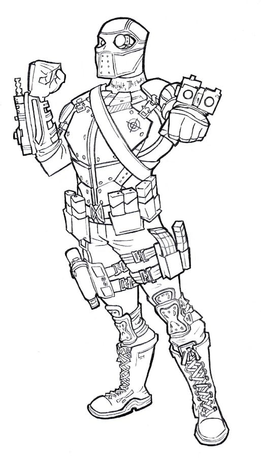 Coloring pages: Coloring pages: Deadshot, printable for
