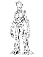 Groot   Free Colouring Pages