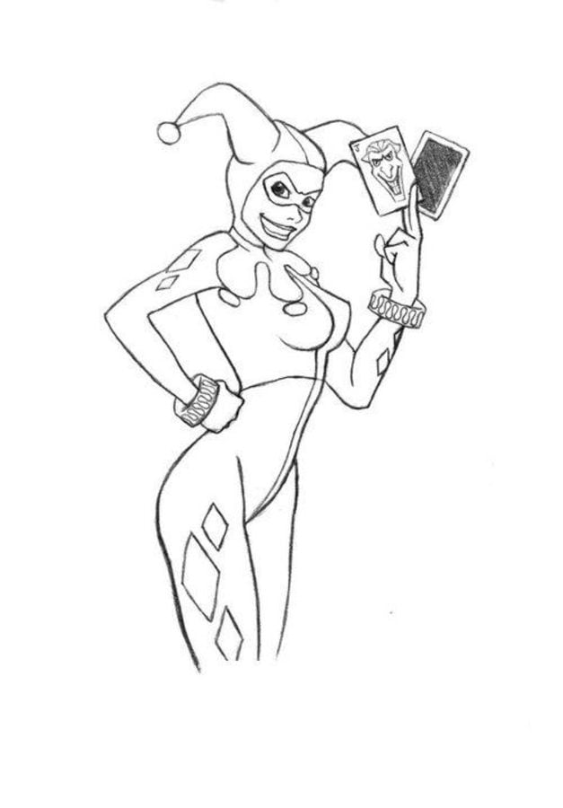 Coloring Pages Coloring Pages Harley Quinn Printable For Kids Adults Free