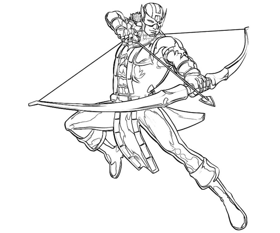 Coloring Pages Coloring Pages Hawkeye Printable For Kids