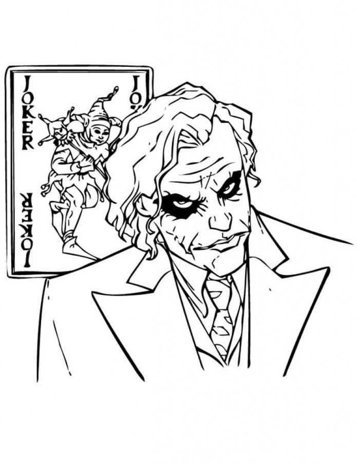 Dibujos Para Colorear Joker Imprimible Gratis Para Los