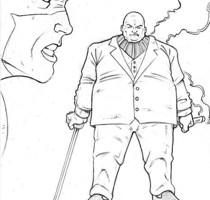 Coloring pages: Kingpin / Wilson Fisk, printable for kids