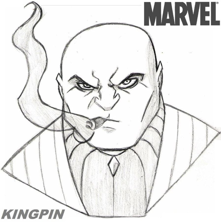 Coloring pages: Coloring pages: Kingpin / Wilson Fisk