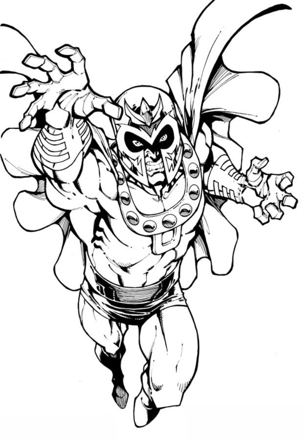 Coloring pages: Magneto, printable for kids & adults, free