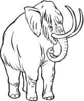 Ausmalbilder Mammut zum ausdrucken, kostenlos, für Kinder ...