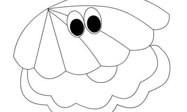 Ausmalbilder: Auster