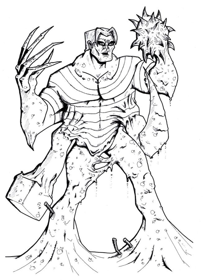 Coloring pages: Coloring pages: Sandman, printable for