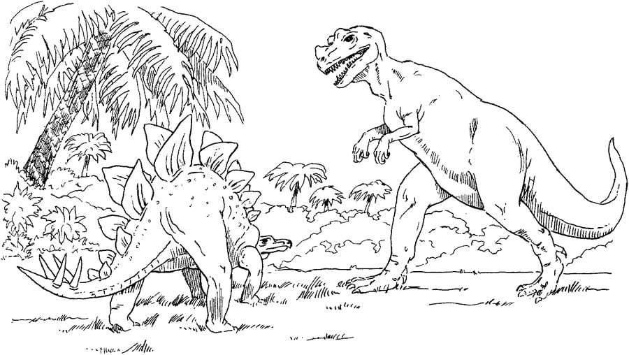 dibujos para colorear stegosaurus imprimible gratis