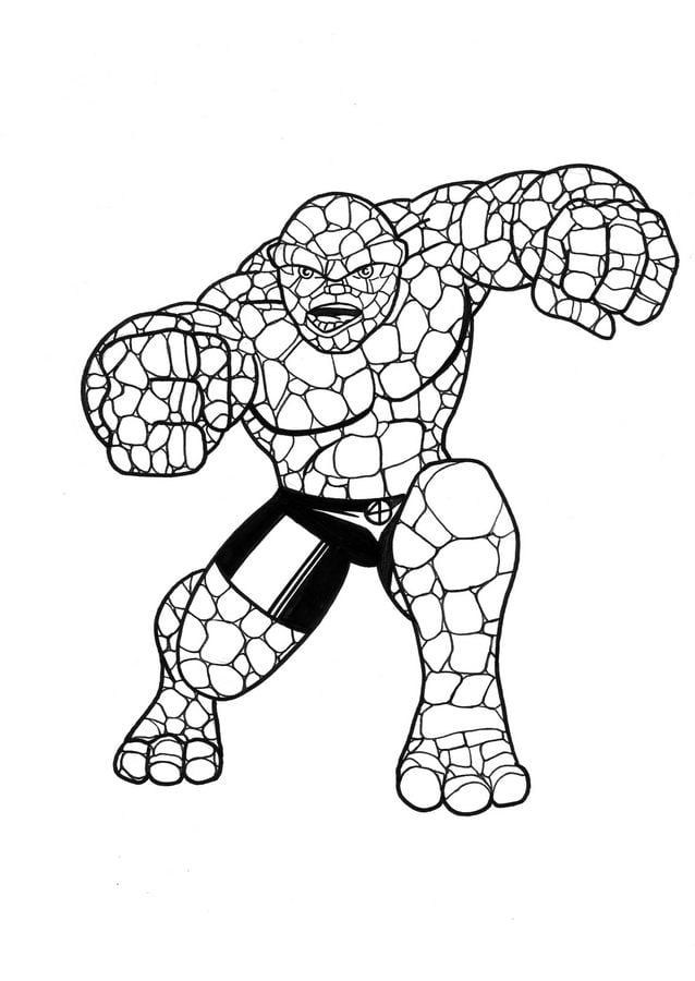 Coloring Pages Coloring Pages Ben Grimm Thing