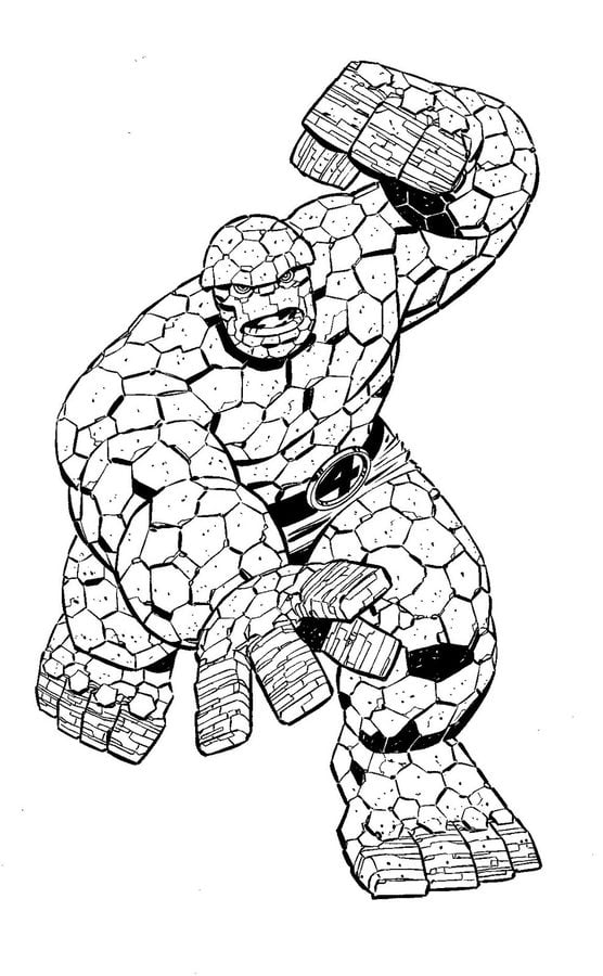Coloring pages: Ben Grimm / Thing, printable for kids