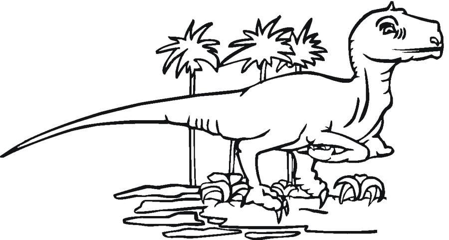 Disegni da colorare: Tirannosauro stampabile, gratuito