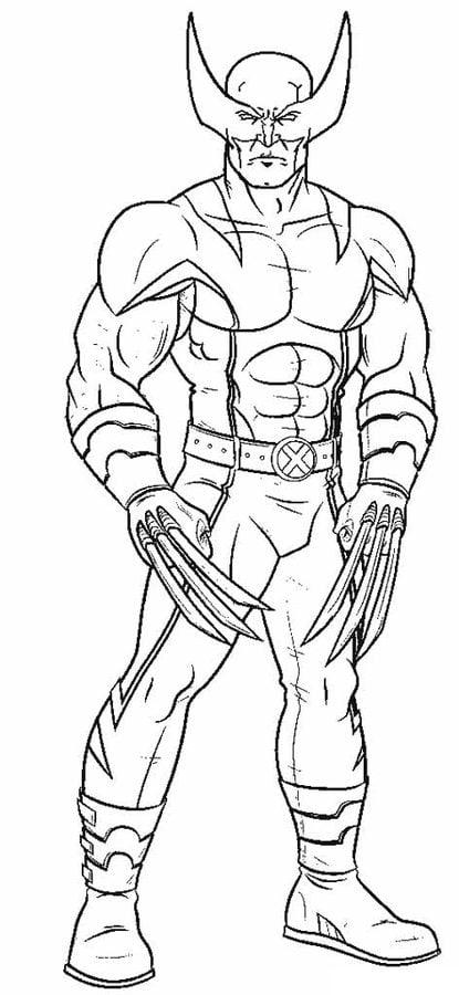 Coloriages Wolverine Imprimable Gratuit Pour Les Enfants Et Les Adultes